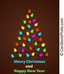 girlanden, baum, weihnachten