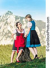 Girlfriends in the alps