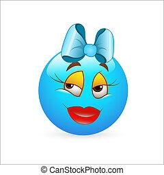 Girlish Expression Smiley Icon