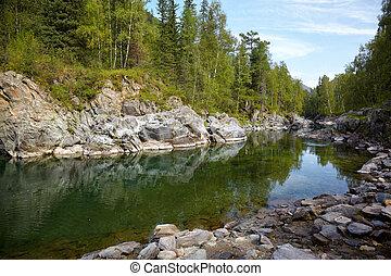 Altai river Kumir - Girlish Reaches of mountain Altai river ...