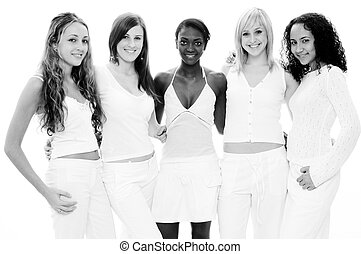 girls, в, белый