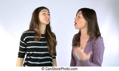 Girls arguing timelapse