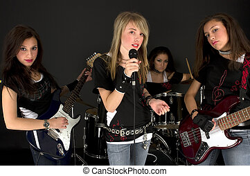 Girls Band - Rock Stars during a concert