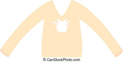 Girls blouse fashion vector illustration.