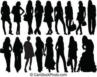 girls collection - vector
