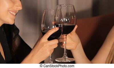 Girls Drink Red Wine