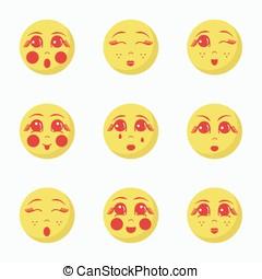 Girl's Emoji set