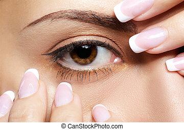 girl\'s, eye-zone, maquiagem
