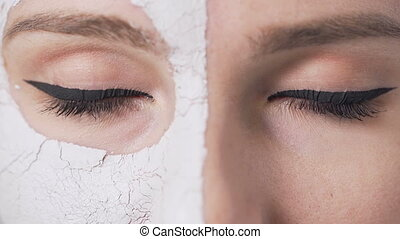 Girl's Eyes During Face Mask