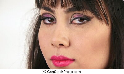 Girls face with make-up