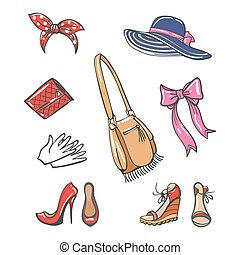 Girls fashion accessories icons