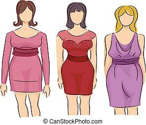 Girls Fashion Style Mannequin Plus Size Dress