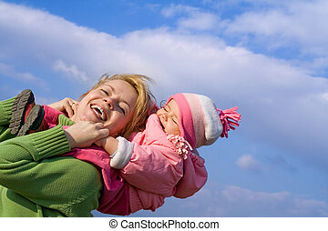 Girls fun outdoors