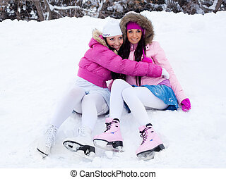 girls going to ice skate