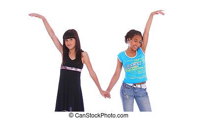 Girls Holding Hand