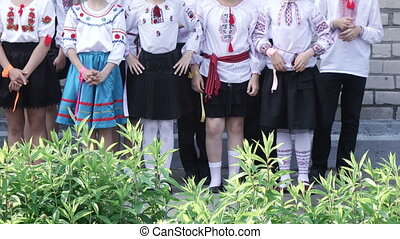 Girls in national dress