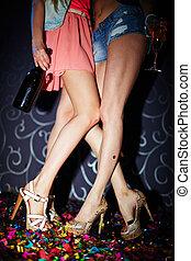 Girls in night club