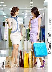 Girls in shop
