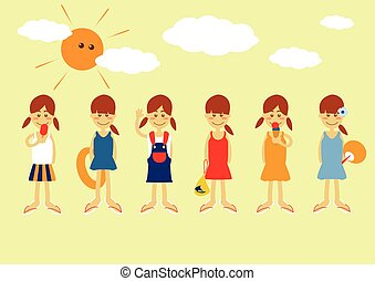 Girls in Summer