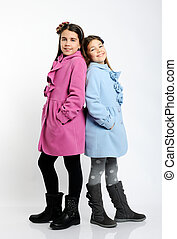 girls in the bright coats