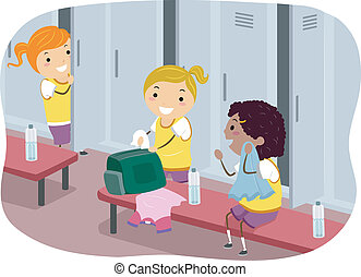 Girls Locker Room