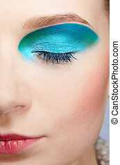 girl's make-up close-up