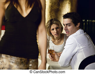horny guy - girls night out: horny guy looking at a nice...
