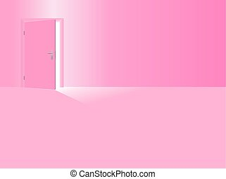 Girls Nursery Pink Room Open Door