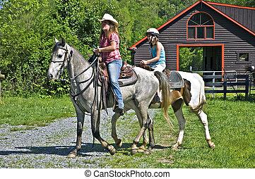Girls on Horseback