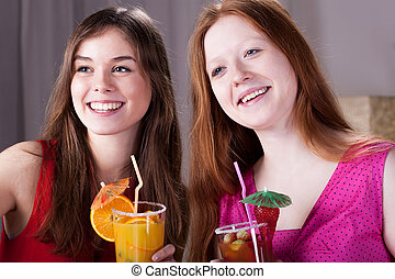 Girls on party