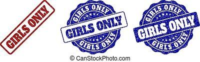 GIRLS ONLY Grunge Stamp Seals - GIRLS ONLY grunge stamp...