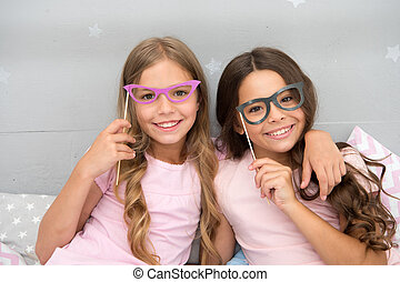 girls party for two happy little children. little children on girls party. going crazy and happy