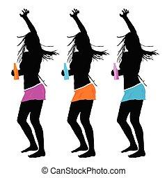 girls party vector illustration