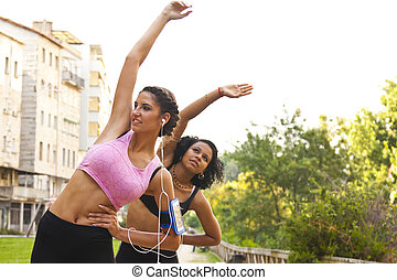 girls playing sports outdoors