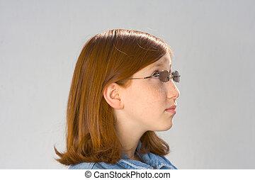 Gaping views redhead teen