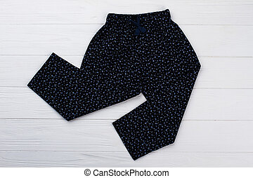 Girls' printed black pants