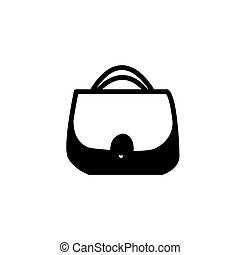 girls shopping bag flat icon vector illustration