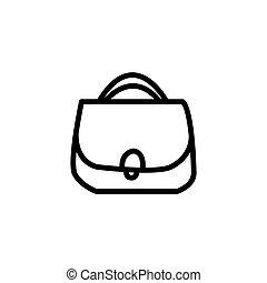 girls shopping bag line icon vector illustration