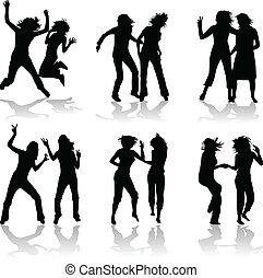 girls silhouette