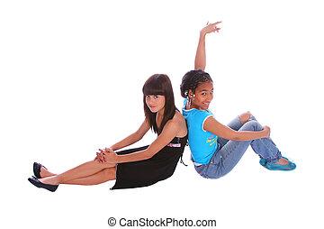 Girls Sitting Pose