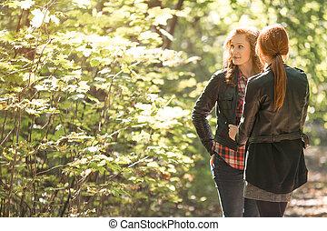 Girls spending time together