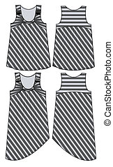 girls stripe tops