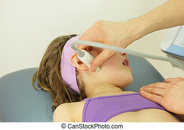 girl's temporomandibular joint diagnosis carried out with ...