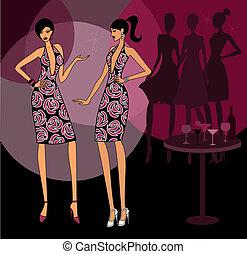 Girls Wearing the Same Dress