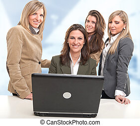 Girls work team