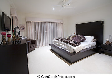 Girly bedroom in luxury mansion