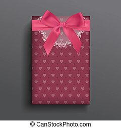 Girly box and bow