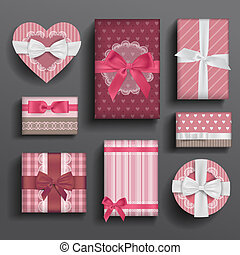 Girly boxes and bows