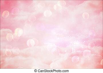 girly, ontwerp, roze