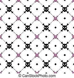 Girly skull and bones pattern